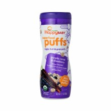 Happy Baby Organic Purple Carrot and Blueberry Puffs 2.1 oz