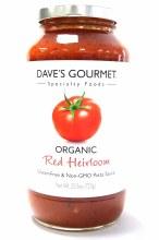 Dave's Gourmet Red Heirloom Pasta Sauce 25.5 oz