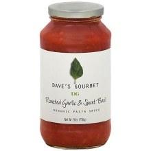 Dave's Gourmet Roasted Garlic & Sweet Basil Pasta Sauce 25.5 oz