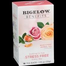 Bigelow Benefits Rose & Mint Herbal Tea 18 bags