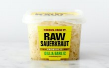 Raw Sauerkraut, Dill & Garlic, Sonoma Brinery 16fl oz