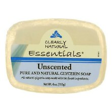 Essentials Clearly Natural Unscented Glycerin Soap 4 oz