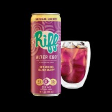 Riff Alter Ego Sparkling Blackberry Coldbrew 100mg caffeine 12 oz can