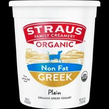 Greek Yogurt, Straus Non Fat Plain 32oz