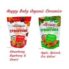 Happy Baby Organics Strawberrty, Raspberry, and Carrot Creamies 1 oz