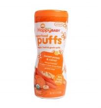 Happy Baby Organics Sweet Potato and Carrot Puffs 2.1 oz