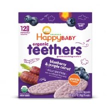 Happy Baby Blueberry and Purple Carrot Teethers 4 pack