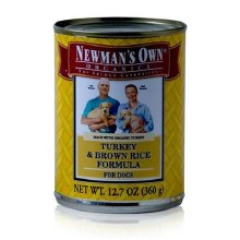 Newman's Own Turkey and Brown Rice Dog Food 12.7 oz