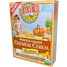 Earth's Best Organic Whole Grain Oatmeal Cereal