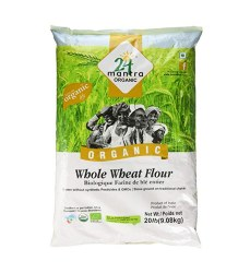Mantra Organic Whole Wheat Atta 20lb