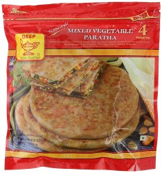 Deep Mixed Veg Parata 4pc