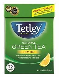 Tetley Green Tea Lemon 72 Bags