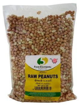 5 Elements Raw Peanuts 4lb