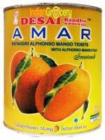 Amar Alphonso Mango Tidbits 850g Sweetened
