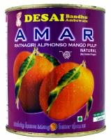 Amar Natural Mango No Sugar 850g Ratnagiri Pulp