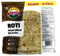 Crispy Whole Wheat Roti 15pc 750g