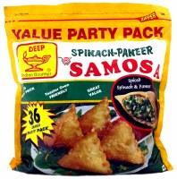 Deep 36 Spinach-paneer Samosas