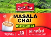 Quick Tea Masala Chai 10pc Unsweetened