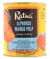 Ratna Alphonso Mango Pulp 30oz Sweetened