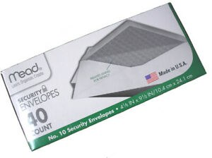 "Mead Legal Security Envelopes 9.5"""
