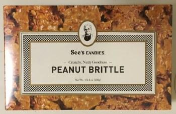 Sees Peanut Brittle 1lb 8oz