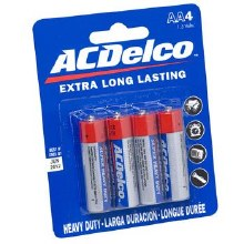 AC Delco AA Batteries 4pk