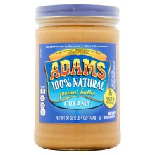 Adams 100% Natural Creamy Peanut Butter 15oz