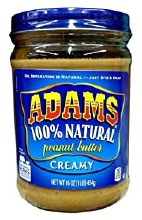 Adams 100% Natural Creamy peanut Butter 36oz