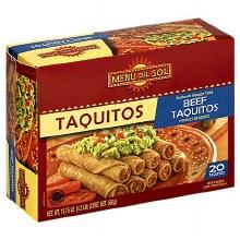 MenuDelSol Beef Taquitos 19.75oz
