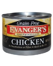 Evanger's Grain Free Dog and Cat Food Chicken 6oz