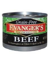 Evanger's Grain Free Beef 6oz