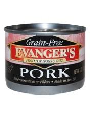 Evanger's Grain Free Dog and Cat Food Pork 6oz