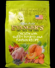 Evanger's Grain Free Dog Chicken w/Sweet Potato and Pumpkin Recipe 4.4lb