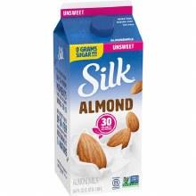 Silk Almond Milk Original Unsweet