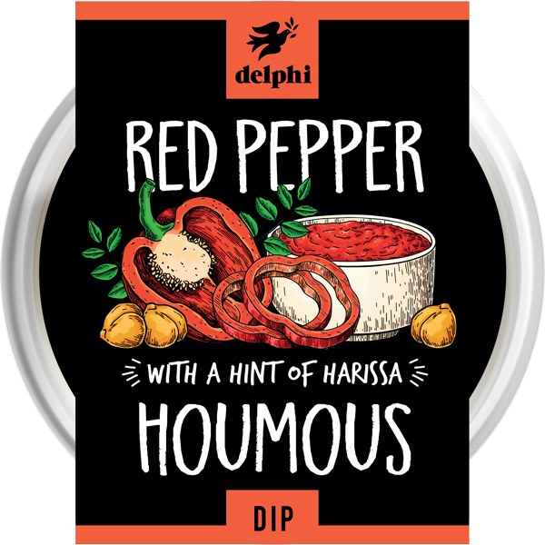 Chargrilled Red Pepper Houmous Dip