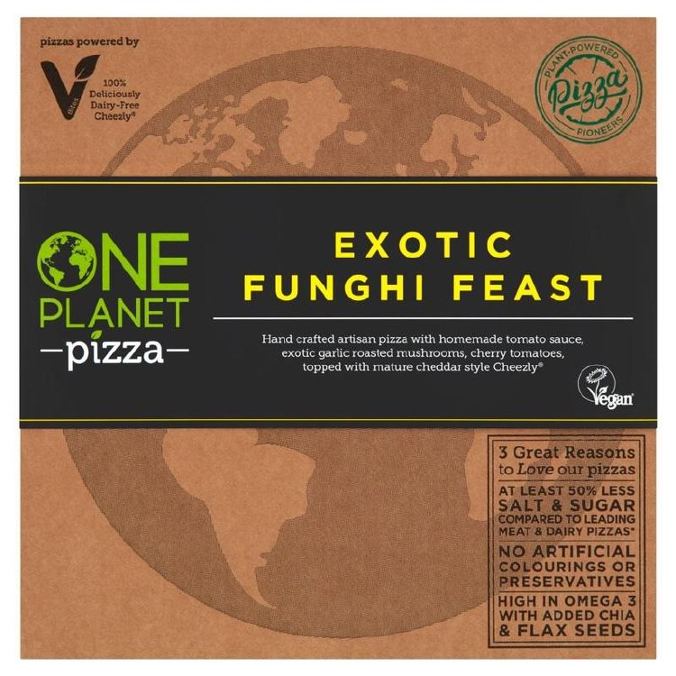 Exotic Funghi Feast Vegan Pizza