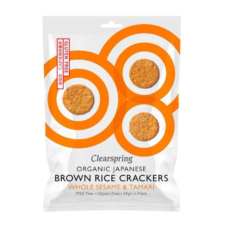 Organic Brown Rice Crackers - Whole Sesame