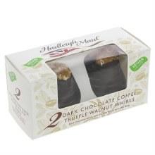 Dark Chocolate Coffee Truffle Walnut Whirls