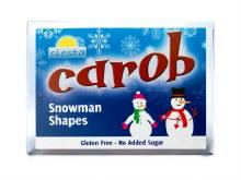 Carob Snowman Shapes