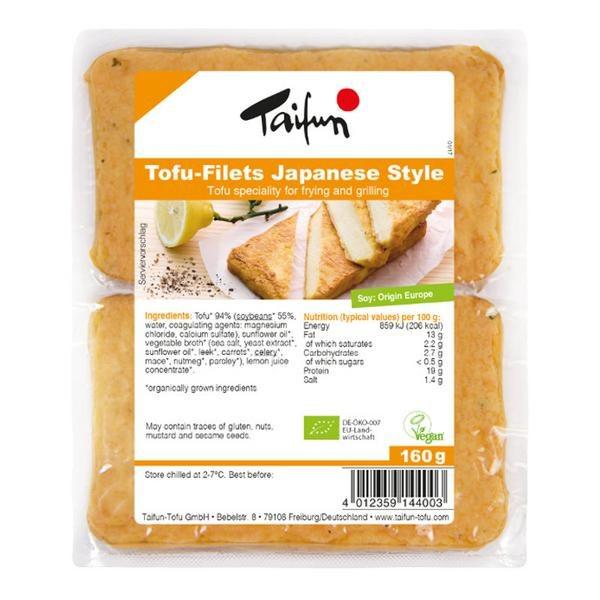 Organic Tofu Fillets Japanese Style
