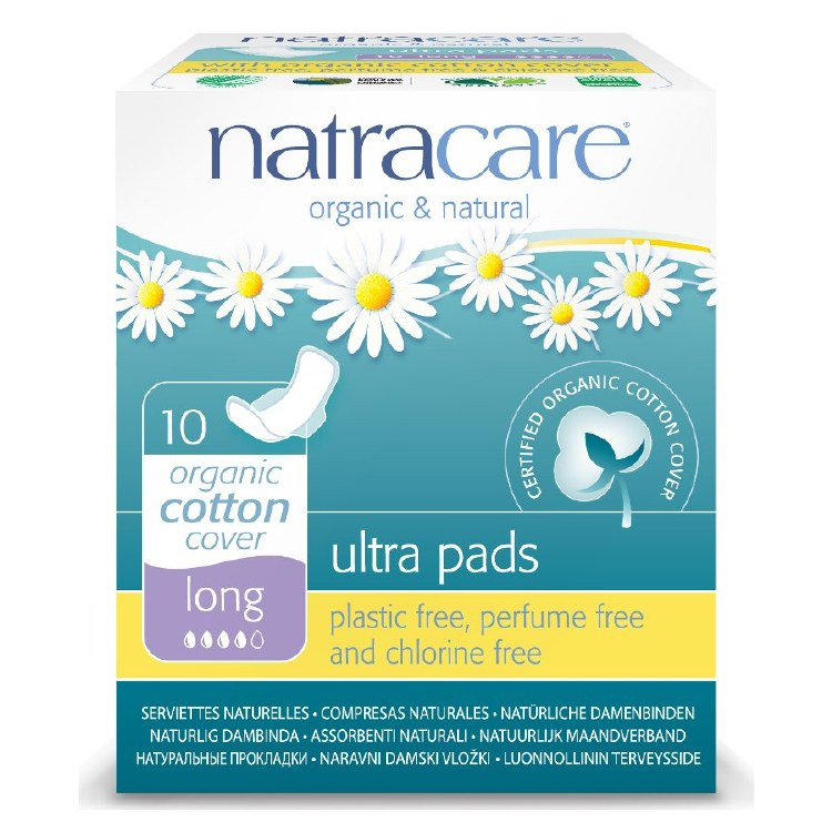 Organic Cotton Long Ultra Pads with Wings