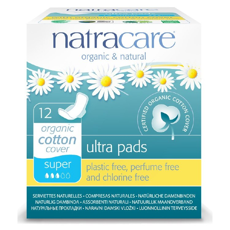 Organic Cotton Ultra Super Pads with Wings