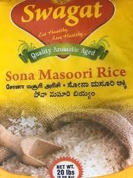 Swagat Sona  Masoori Rice 20lb