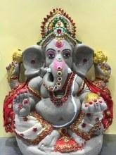Ganesh Idol Decorated Eco Friendly