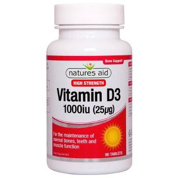 Natures Aid Vitamin D3 1000iu