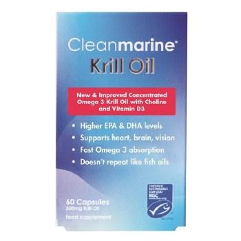 Clean Marine Krill Oil - 60 x