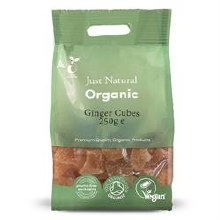Org Ginger Candied Cubes