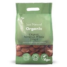 Organic Almonds Whole 250g