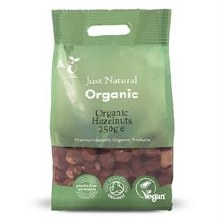 Organic Hazelnuts 250g