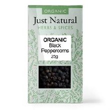 Org Peppercorns Black